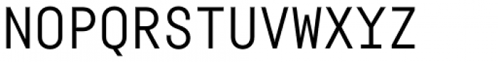 Fabrikat Mono Regular Font UPPERCASE