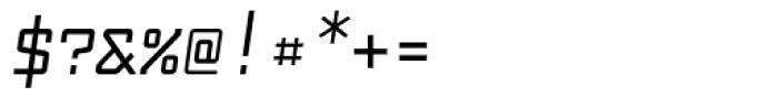 Fabryka 4F Medium Italic Font OTHER CHARS