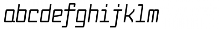 Fabryka 4F Medium Italic Font LOWERCASE