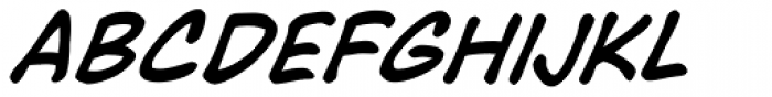 Face Front Italic Font UPPERCASE