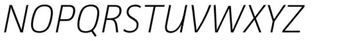 Facit ExtraLight Italic Font UPPERCASE
