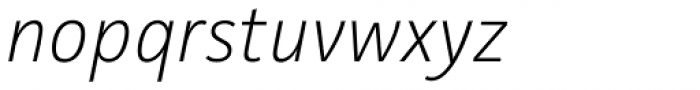 Facit ExtraLight Italic Font LOWERCASE