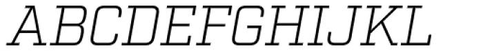 Factoria Light Italic Font UPPERCASE