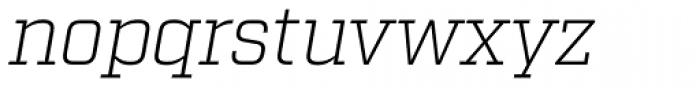 Factoria Light Italic Font LOWERCASE
