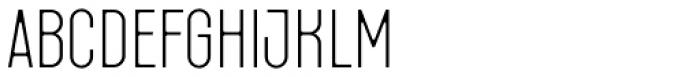 Fada Extra Light Font LOWERCASE