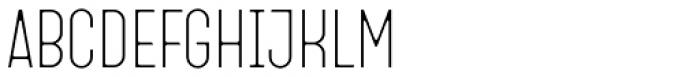 Fada Thin Font UPPERCASE