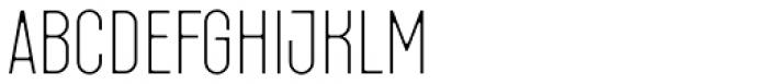 Fada Thin Font LOWERCASE