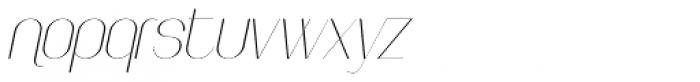Faddish Italic Font LOWERCASE