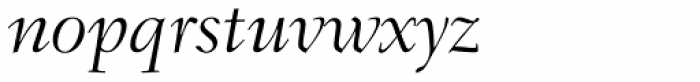 Fairfield LH 46 Swash Light Italic Old Style Figures Font LOWERCASE