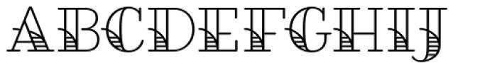 Fairwater Deco Serif Font UPPERCASE