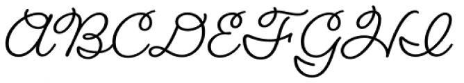 Fairwater Script Font UPPERCASE