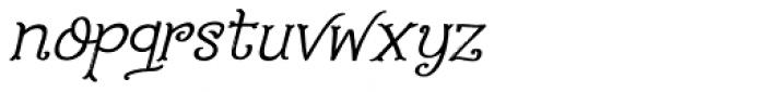 Fairy Godmother Italic Font LOWERCASE