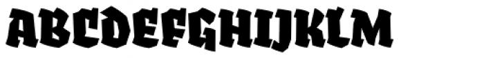 Fakir Pro Black Italic Font UPPERCASE