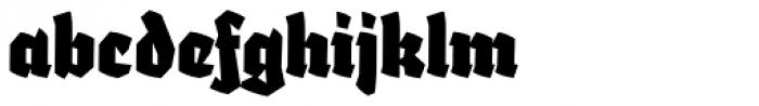 Fakir Pro Black Italic Font LOWERCASE
