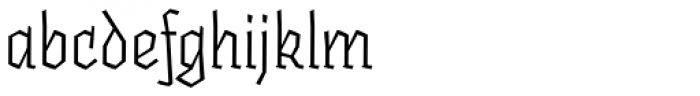 Fakir Pro Italic Font LOWERCASE