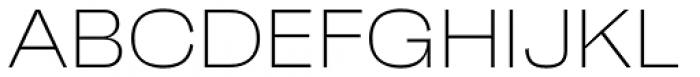 Faktum Wide Extra Light Font UPPERCASE