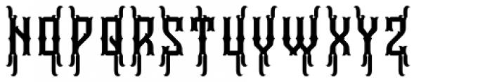 Falchion Edge Contour B Font UPPERCASE