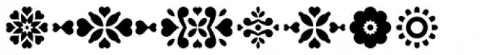 Falena Ornaments Font LOWERCASE