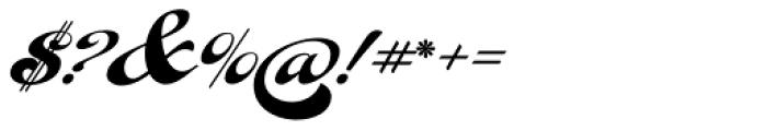 Fan Script Font OTHER CHARS