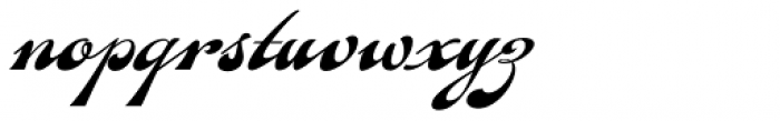 Fan Script Font LOWERCASE