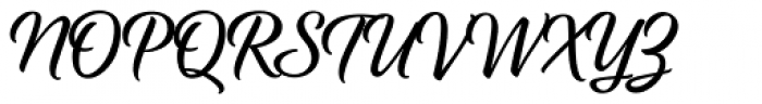 Fancier Script Font UPPERCASE