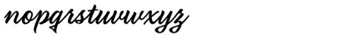 Fancier Script Font LOWERCASE