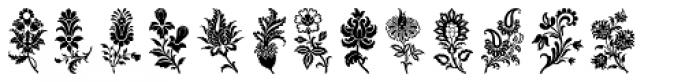 Fancy Flowers Font LOWERCASE