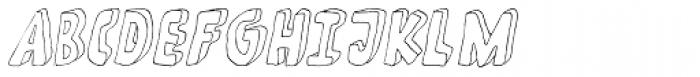 Fantastique Italic Font UPPERCASE