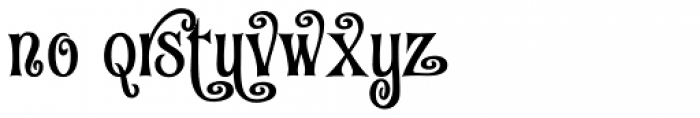 Fantini Alt One Font LOWERCASE