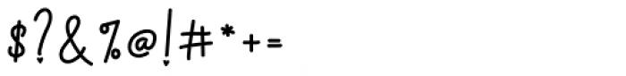 Faritta Regular Font OTHER CHARS