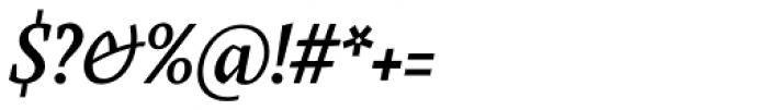Farrerons Serif Demi Bold Italic Font OTHER CHARS