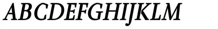 Farrerons Serif Demi Bold Italic Font UPPERCASE