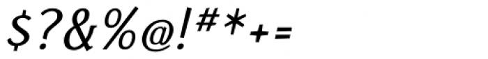Fasciani Senza Italic Font OTHER CHARS