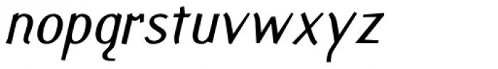 Fasciani Senza Italic Font LOWERCASE