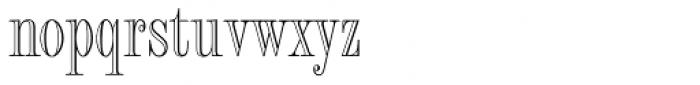 Fashion Engraved Font LOWERCASE