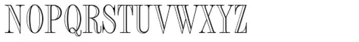Fashion Std Engraved Font UPPERCASE