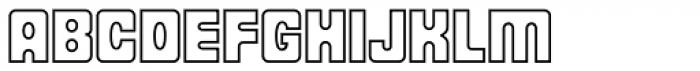 Fat Albert BT Outline Font UPPERCASE
