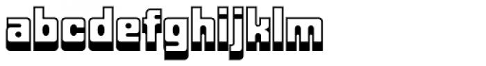 Fat Albert BT Shadow Font LOWERCASE