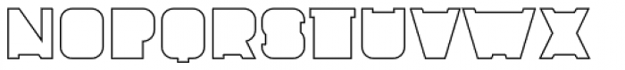 Fatbrass Outline Font LOWERCASE
