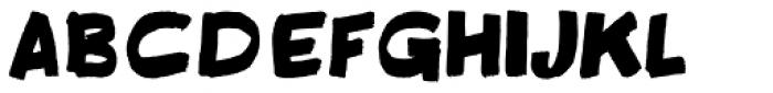 Fatbrush DT Font LOWERCASE