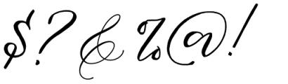 Fathir Script Regular Font OTHER CHARS