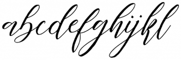 Fathir Script Regular Font LOWERCASE