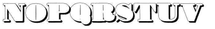 Fatone D Font UPPERCASE