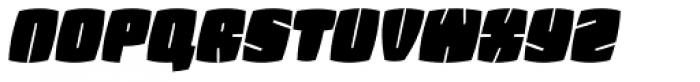 Fatquad 4F Cond Italic Font LOWERCASE