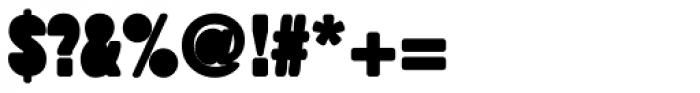 Fatso Stuffed Font OTHER CHARS