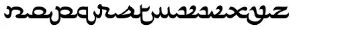 Faux Arabic Regular Font LOWERCASE