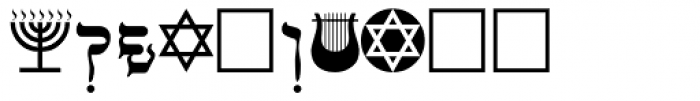 Faux Hebrew Regular Font OTHER CHARS