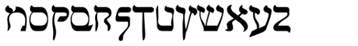 Faux Hebrew Regular Font LOWERCASE