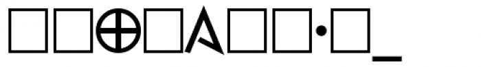 Faux Runic Bold Font OTHER CHARS