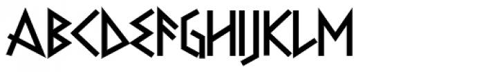 Faux Runic Bold Font UPPERCASE